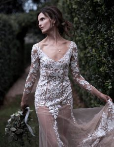 Wedding Shoot in Byron Bay. Location: The Fig Tree Photographer: Elsa Dillon Model: Abigail Oneill Hair: Sulis Bridal Makeup Artist: Nahid Kholghi Styling: Gemgem Styling Gown: Darb Bridal Jewellery: Pelejewel Blooms: Victoriafitzgibbon